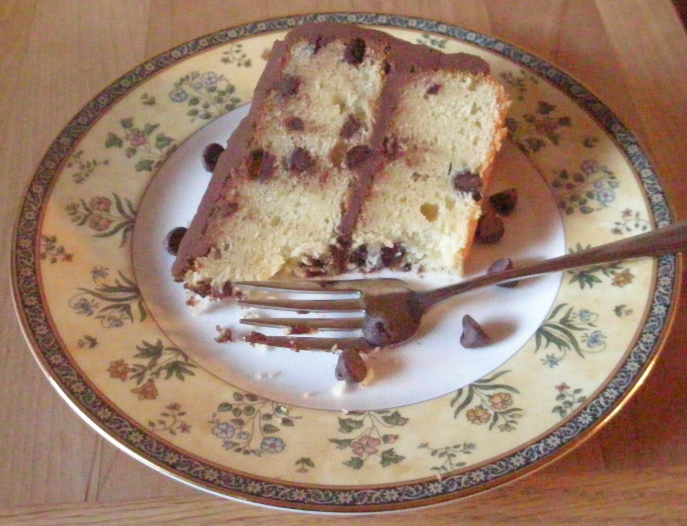 Chocolate Chip Pound Cake With Chocolate Sour Cream